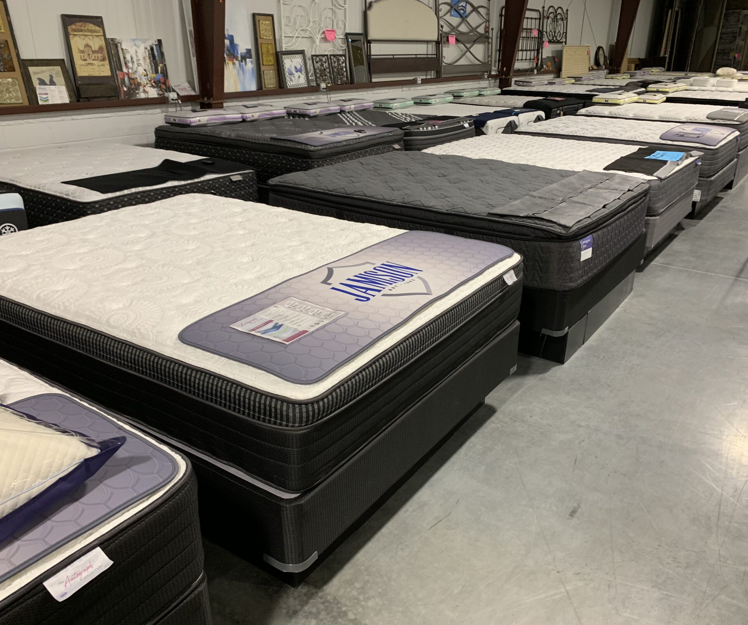 one of our mattress selection (Mattresses by Jamison, Sealy, & Stearns & Foster)