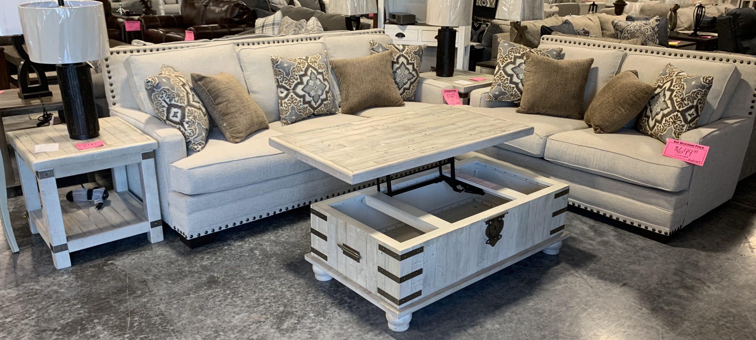a sofa & loveseat set by Corinthian