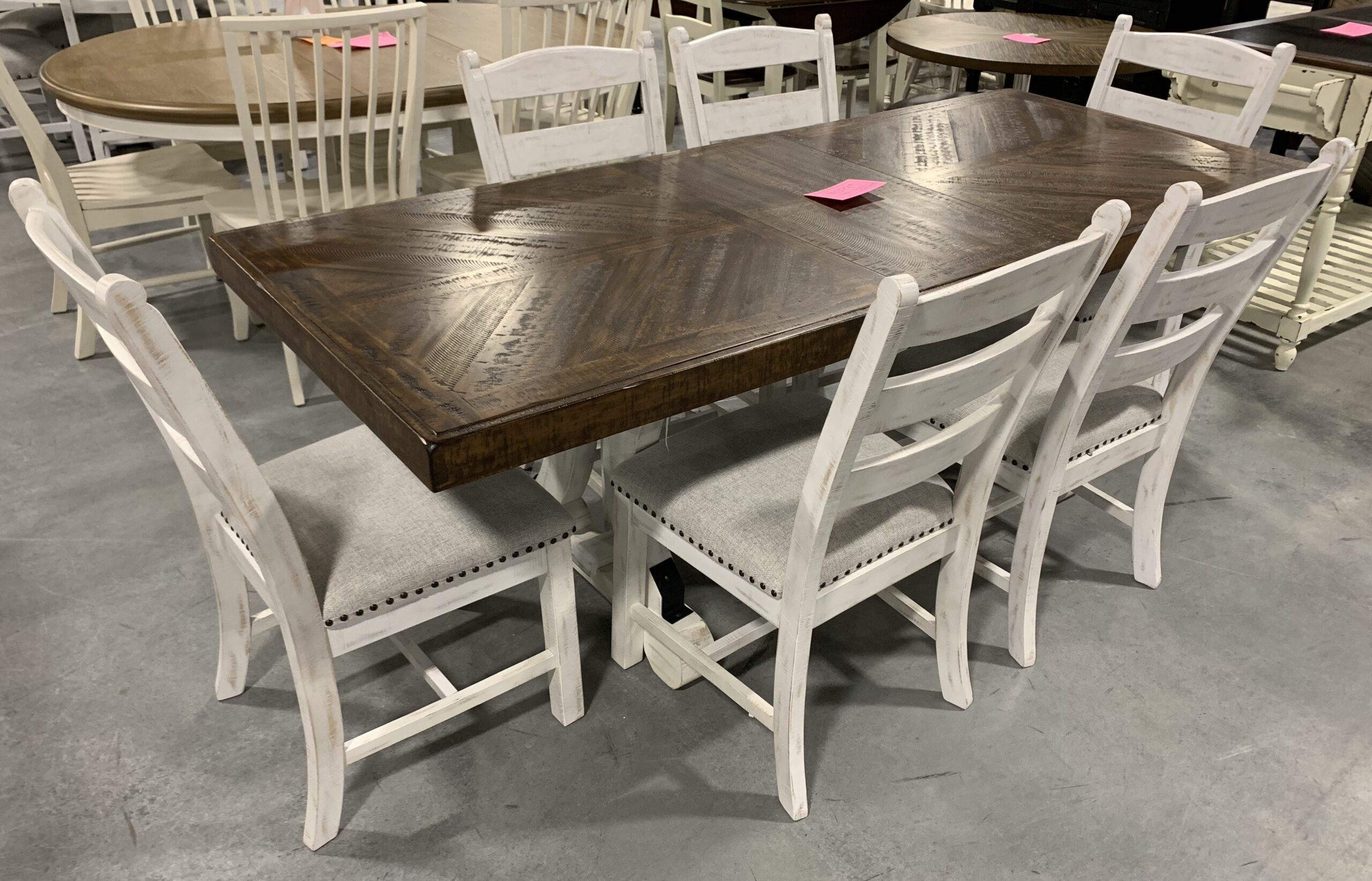 a table & 6 chairs set by Ashley